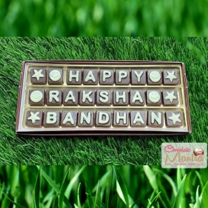 Raksha Bandhan message on 27 chocolates