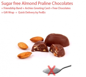 Sugar Free Almond Chocolates - Friendship day Spl