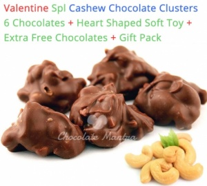 Valentine Special Amazing Cashewnut Clusters - Heart soft toy