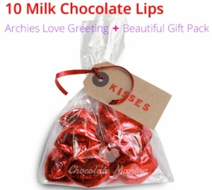 Chocolate Lips - Valentine's Special Chocolates + Love Card