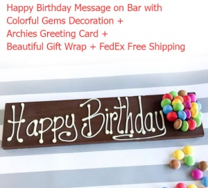 Happy Birthday Message on Chocolate Bar