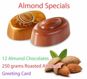 Almond Chocolates with Roasted Almonds