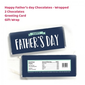 Happy Father's day Wrapped Chocolate Bars