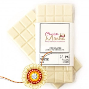 White chocolate bar with Rakhi