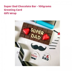 Super Dad Chocolate Bar - Father's day Special