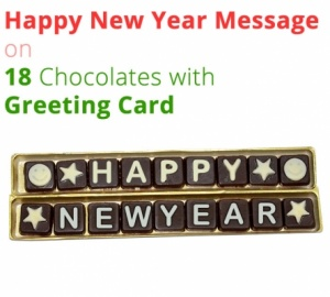 Happy New Year Greeting on 18 Chocolate