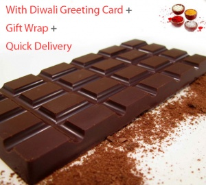 Dark Chocolate Bar with Greeting Card