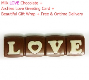 Milk Love Chocolate with Archies Love Card