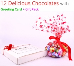 Birthday Chocolates with Greeting Card