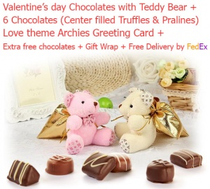 6 Amazing Chocolate Truffles & Pralines in a beautiful Teddy