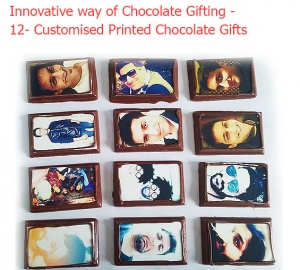 Business card on 12 Chocolates