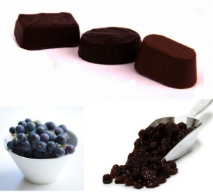Black Raisins Dark Chocolates