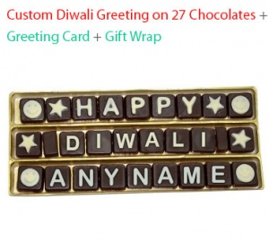 Diwali Message on 27 Chocolates