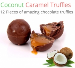 Coconut Caramel Truffles - 12 Chocolates