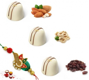 Rakhi with Dryfruit White Chocolates