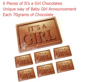 It's a Girl - Newborn baby announcement chocolate bars