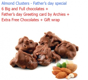 Almond Chocolate Clusters - Father's day special