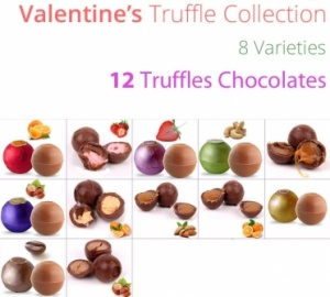 Valentine Truffle Collection with Greeting Card