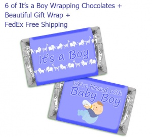 6 It's a Boy Wrapping Chocolates
