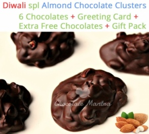 Almond Chocolate Clusters - Diwali Special