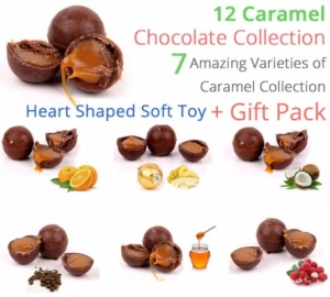 Caramel Chocolate Truffle Collection Valentine Spl with Heart