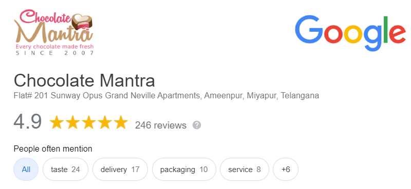Chocolate mantra Customer Reviews
